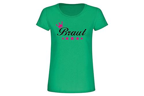 JGA Shirt | Junggesellinnenabschied T-Shirt - Krone Sterne Braut