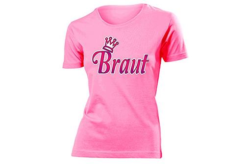 JGA Shirt | Junggesellinnenabschied T-Shirt - Krone und Braut