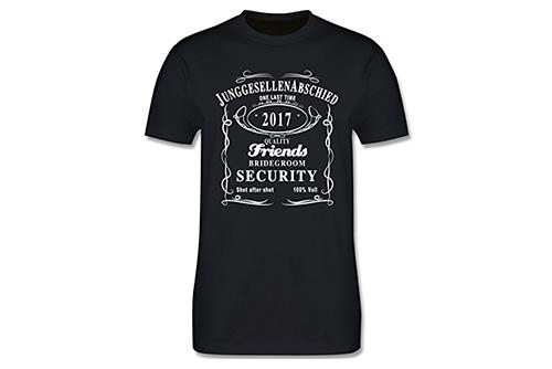 JGA Shirt | Junggesellenabschird T-Shirt - Bräutigam Security