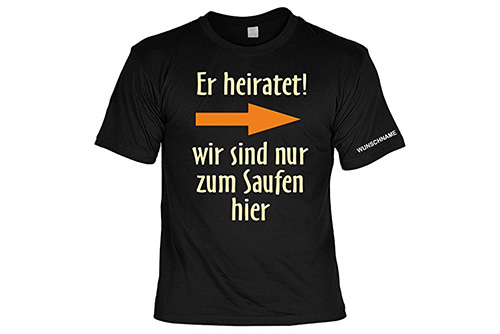 JGA Shirt | Junggesellenabschird T-Shirt - Er heiratet