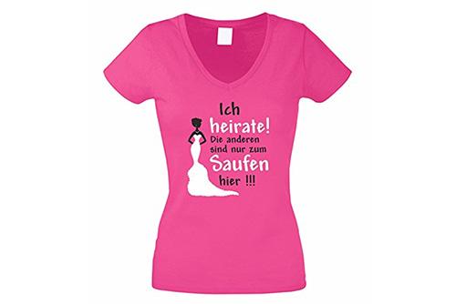 JGA Shirt | Junggesellinnenabschied T-Shirt - Ich heirate die andern sind zum saufen hier