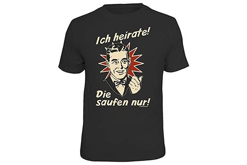 JGA Shirt | Junggesellenabschird T-Shirt - Ich heirate die saufen nur