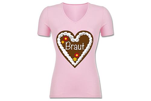 JGA Shirt | Junggesellinnenabschied T-Shirt - Lebkuchenherz