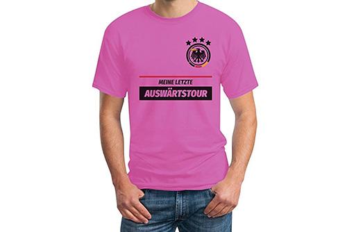 JGA Shirt | Junggesellenabschird T-Shirt - Fußball Auswärtstour