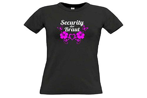 JGA Shirt | Junggesellinnenabschied T-Shirt - Security der Braut